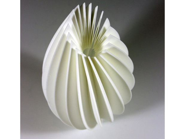 Twist Sculpture 3d printed Front View