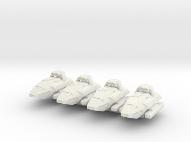 1/1000 Scale Montgomery NX-03 Strike Variant in White Strong & Flexible