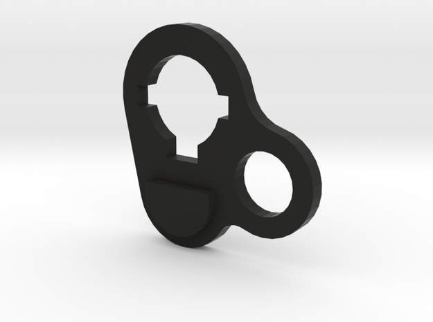 M4 stock ring - single point sling - Airsoft in Black Strong & Flexible