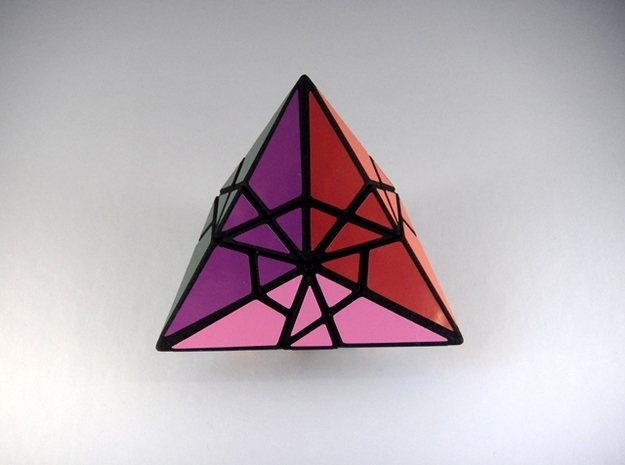 Fractured Tetrahedron Puzzle 3d printed Face Type 2