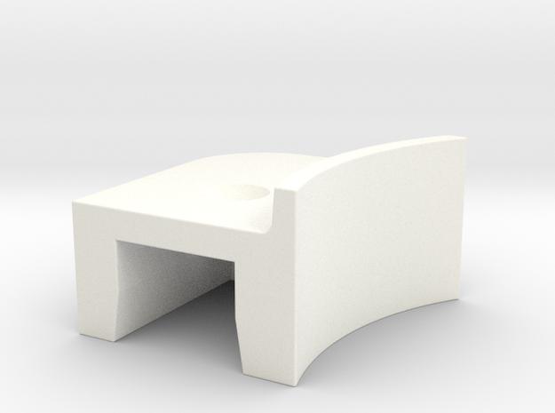 A90 Atlantic door lever R in White Processed Versatile Plastic