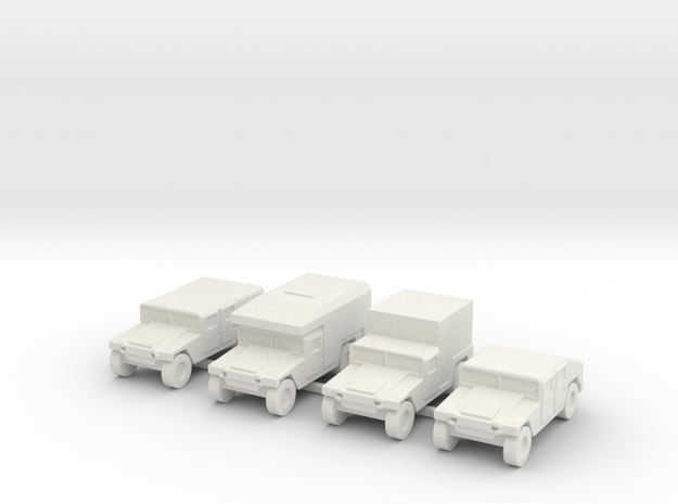 1/200 scale Humvee HMMWV Hummer H1 4 types in White Natural Versatile Plastic