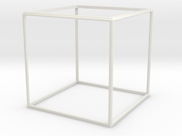 Cube Frame in White Natural Versatile Plastic