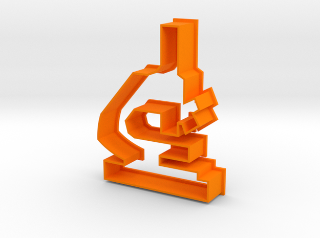 Microscope Cookie Cutter! in Orange Processed Versatile Plastic