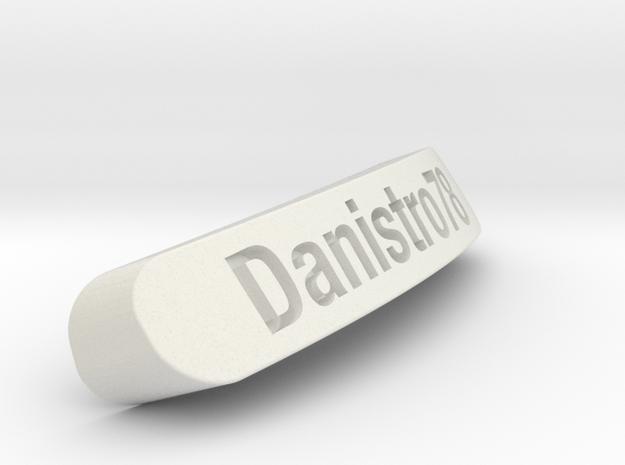 Danistro78 Nameplate for Steelseries Rival in White Natural Versatile Plastic