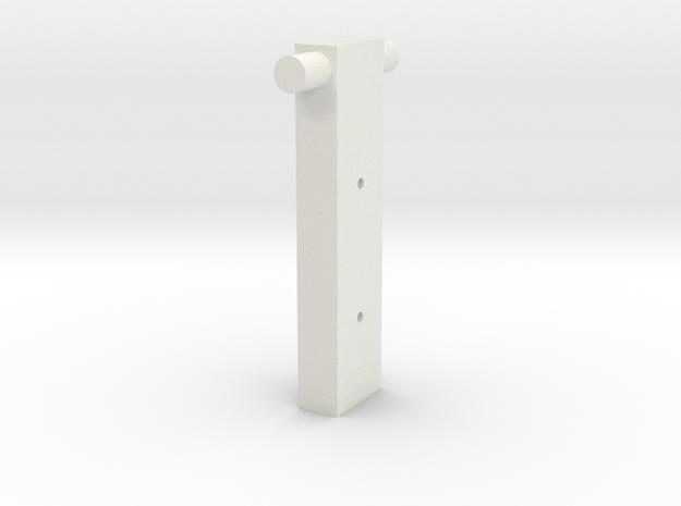 20150407 05 Squirrel Roller Holder Full Size in White Natural Versatile Plastic