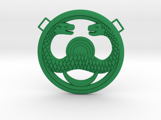 Conan Snake Amulet in Green Processed Versatile Plastic