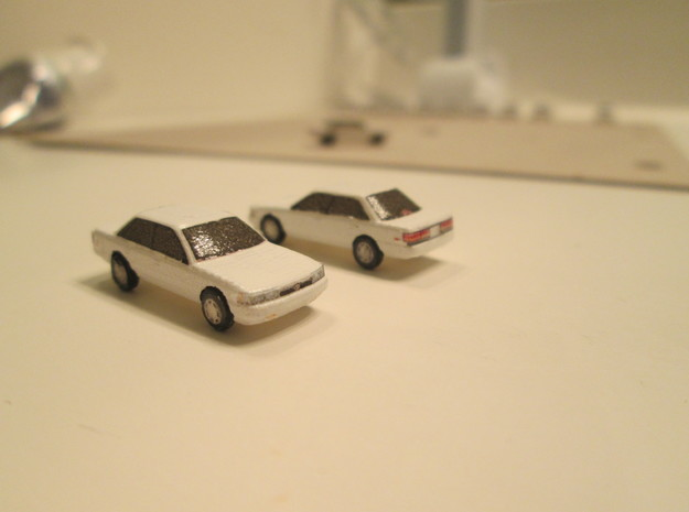 N scale toyota camry 1987-1991  5 pack in Smooth Fine Detail Plastic