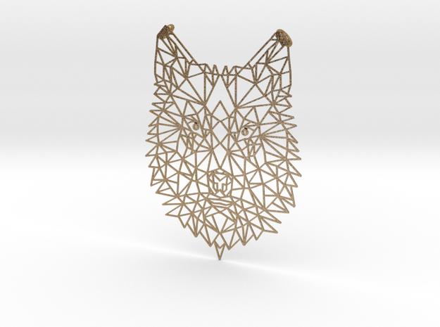 Wilhelmina Wolf in Polished Gold Steel