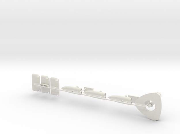 GST30 1/4 scale just the metal parts in White Natural Versatile Plastic