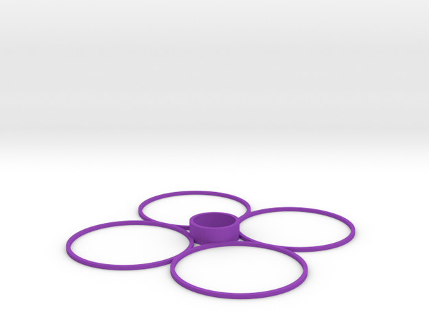 Cheerson CX-10 Quadcopter Prop Guards in Purple Processed Versatile Plastic