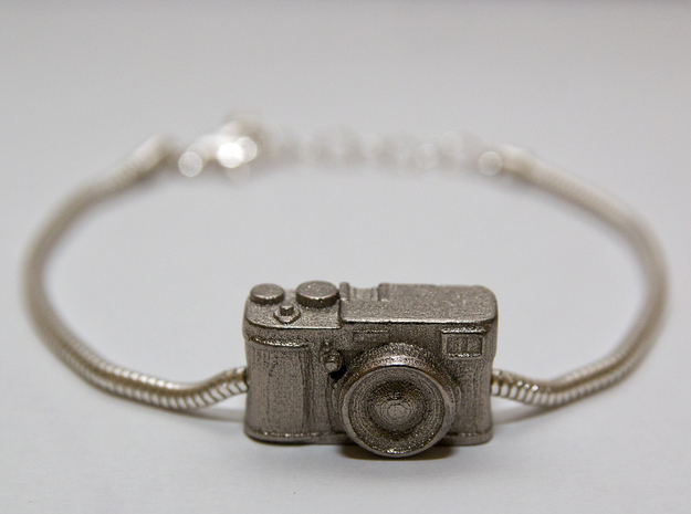 Fujifilm X100s Pandora bead in Polished Nickel Steel