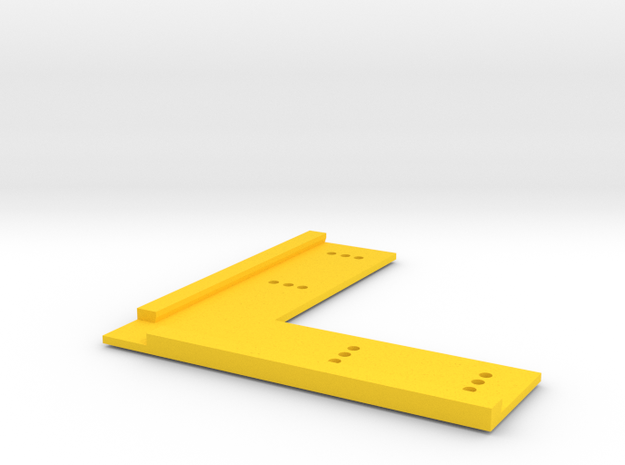 T-Trak Straight Track Locator in Yellow Processed Versatile Plastic