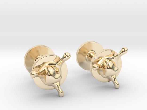 LoveSplash cufflinks in 14k Gold Plated Brass