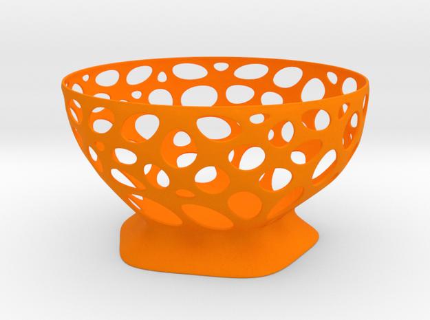 Fruit vase in Orange Processed Versatile Plastic