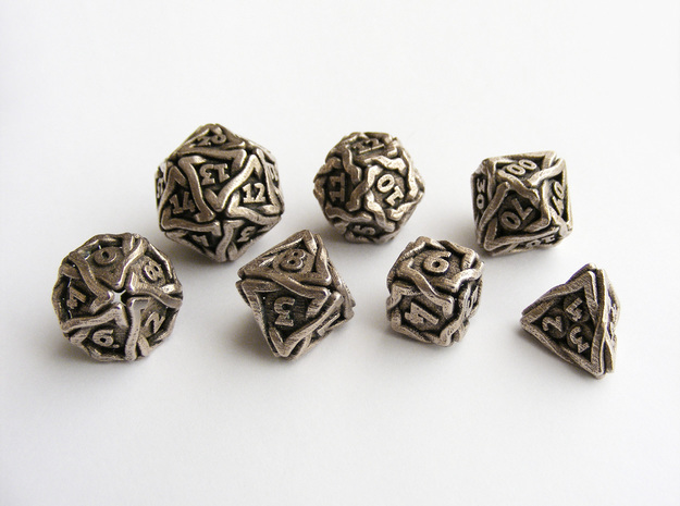 'Twined' Dice Gaming Die Set +10D10/Decader 7 dice