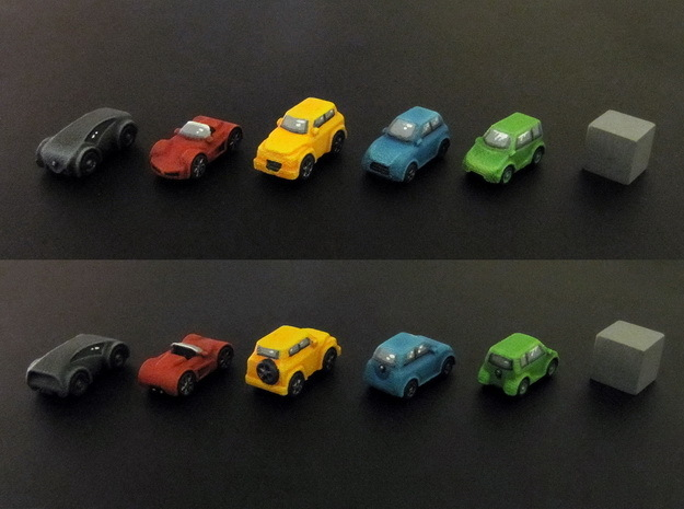 Miniature cars 20mm, 5 models (5pcs)