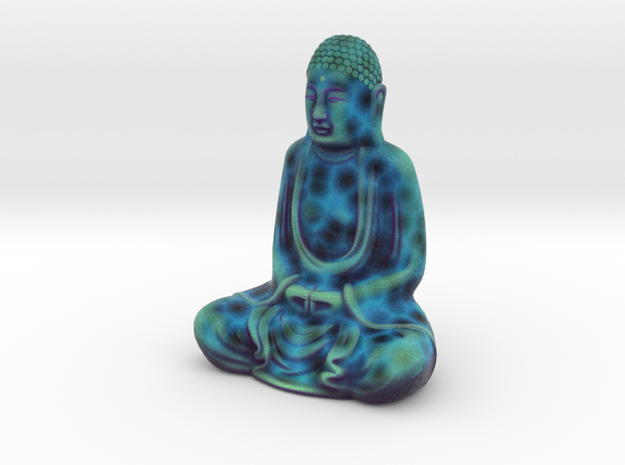 Textured Buddha: electric blue web. in Full Color Sandstone