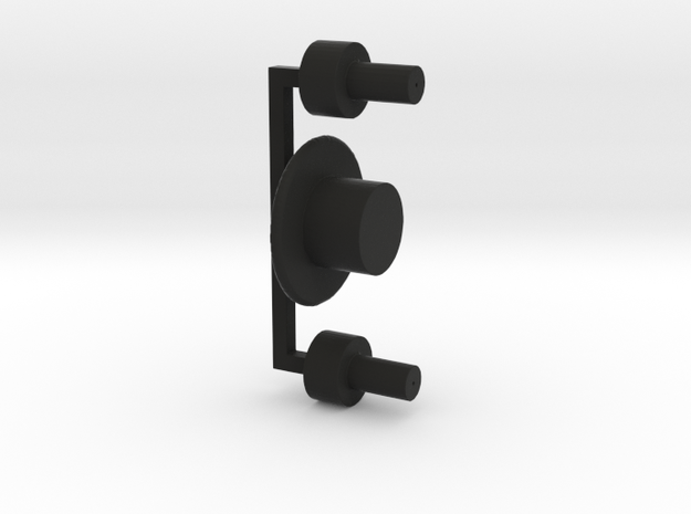 Buttons Complete Set in Black Natural Versatile Plastic