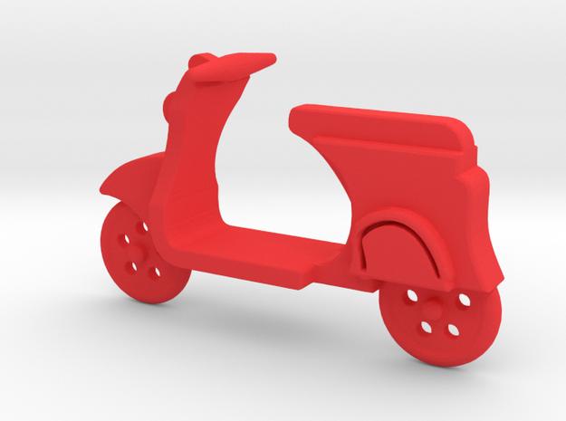 Vespa Pendant in Red Processed Versatile Plastic