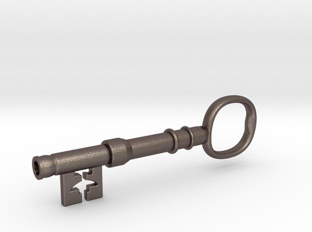 221b Baker Street Front Door Key - Sherlock in Polished Bronzed Silver Steel