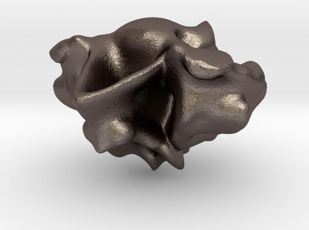 Love rocks in Polished Bronzed Silver Steel