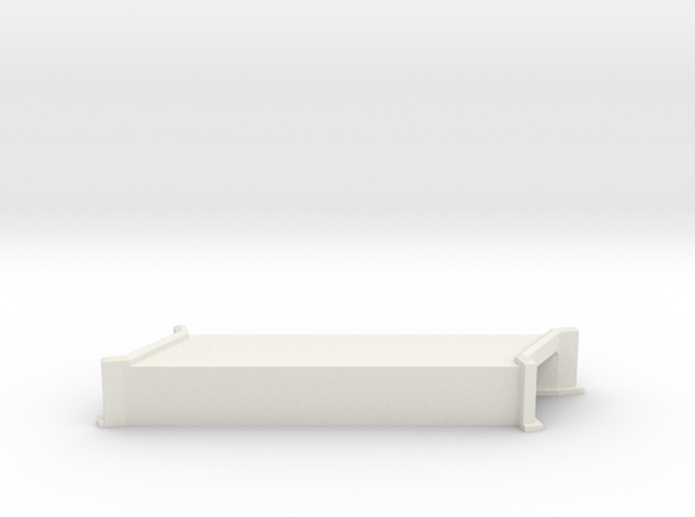 N-Scale Concrete Highway Angled Culvert in White Strong & Flexible