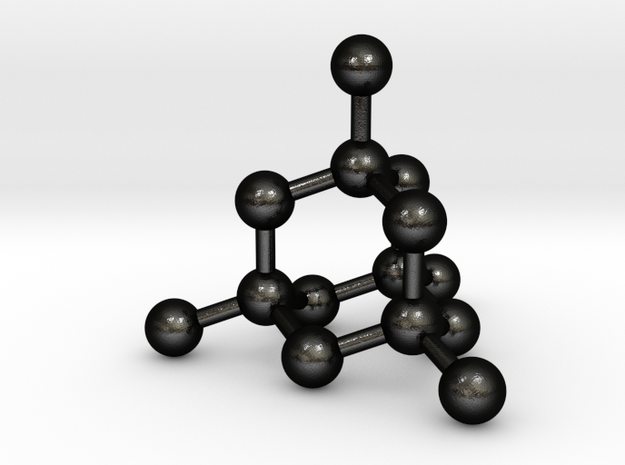Diamond Structure Pendant in Matte Black Steel