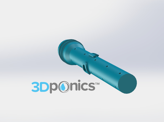 Sprinkler for Roots (3/4 Inch) - 3Dponics in White Natural Versatile Plastic