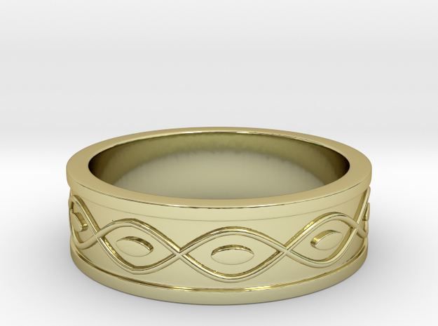 Ring with Eyes - Size 7 in 18k Gold Plated Brass