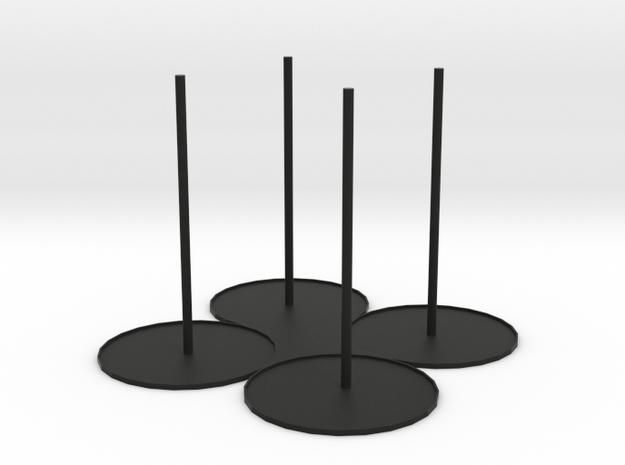 Rim Holder R4 in Black Natural Versatile Plastic