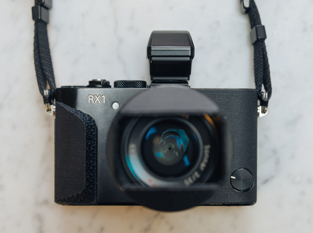 Stellated Grip for Sony RX1 / RX1R / RX1R ii in Black Strong & Flexible