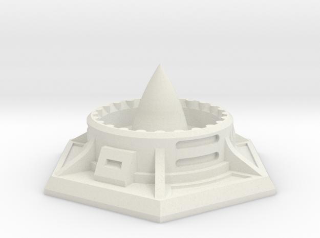 Missile Silo (25mm A/F) in White Natural Versatile Plastic