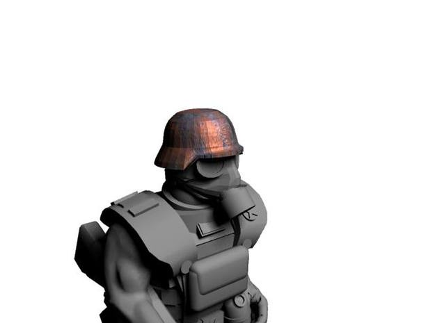 WW2 German Helmets for 28mm scale miniatures 3d printed