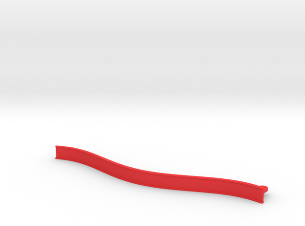 Big Curved ZMR250 bumper in Red Processed Versatile Plastic