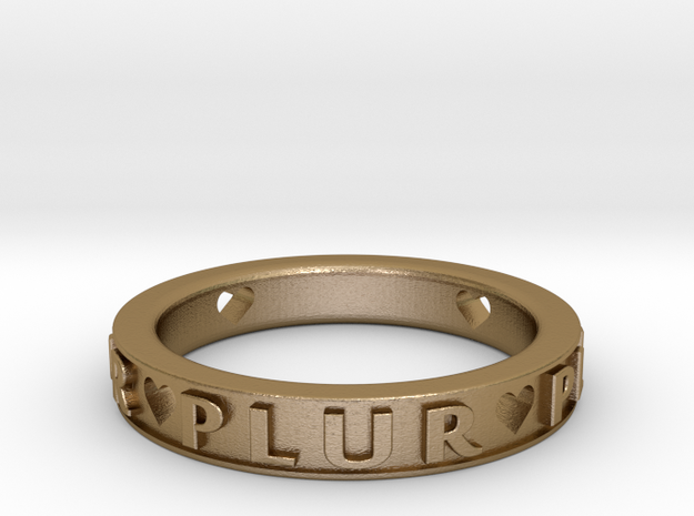 Plur Ring - Size 9 in Polished Gold Steel