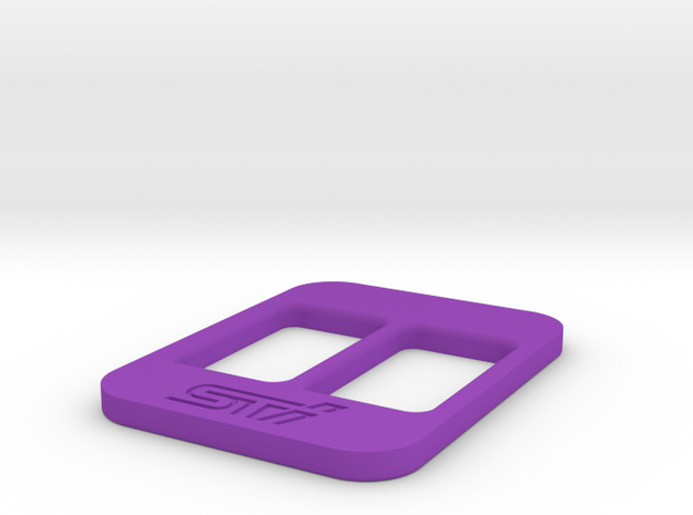 BRZ Limited Blank Console Plate 004 in Purple Strong & Flexible Polished