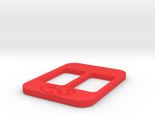 BRZ Limited Blank Console Plate 005 in Red Strong & Flexible Polished