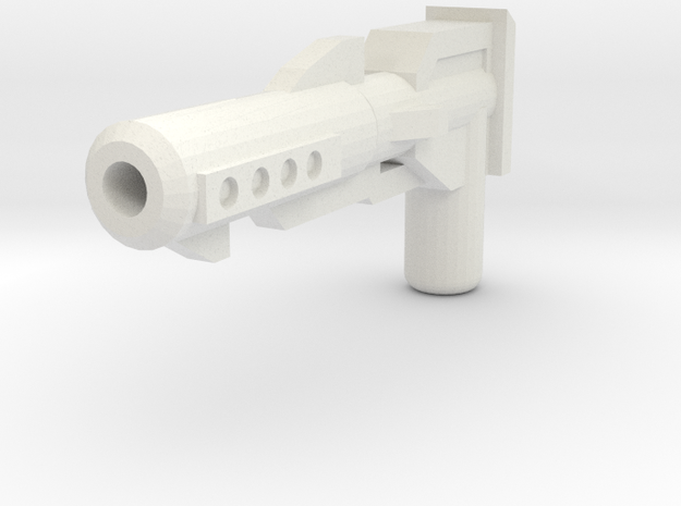 Moonbase Commander Blaster in White Natural Versatile Plastic