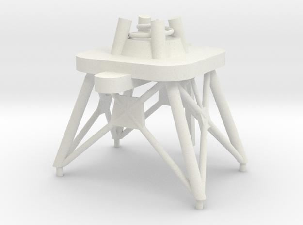 1/72 scale Perry Mast #1 in White Natural Versatile Plastic