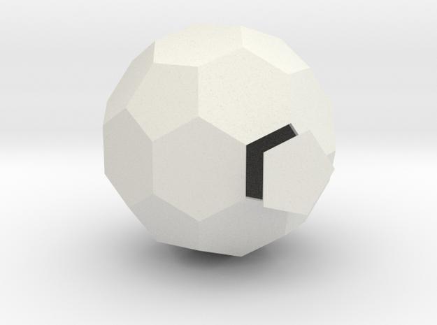 Ycocedron Abscisus Solidus in White Natural Versatile Plastic