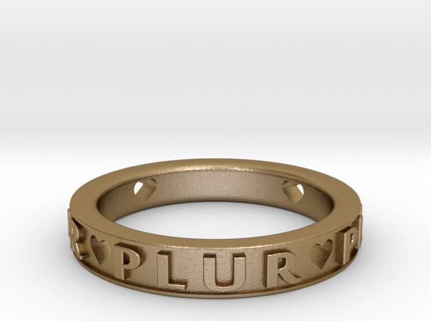 Plur Ring - Size 7 in Polished Gold Steel
