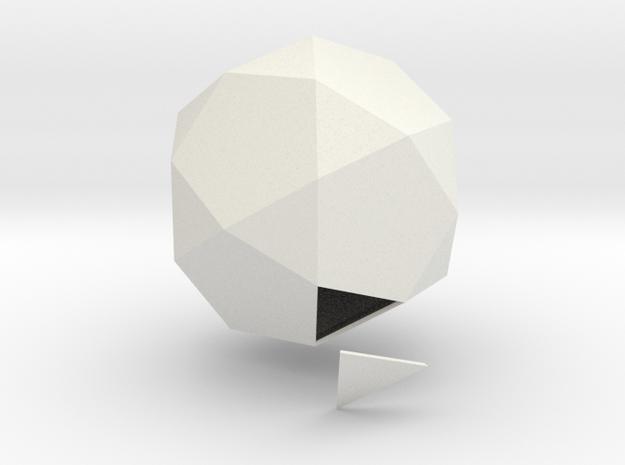 Duodecedron Abscisus Solidus in White Natural Versatile Plastic