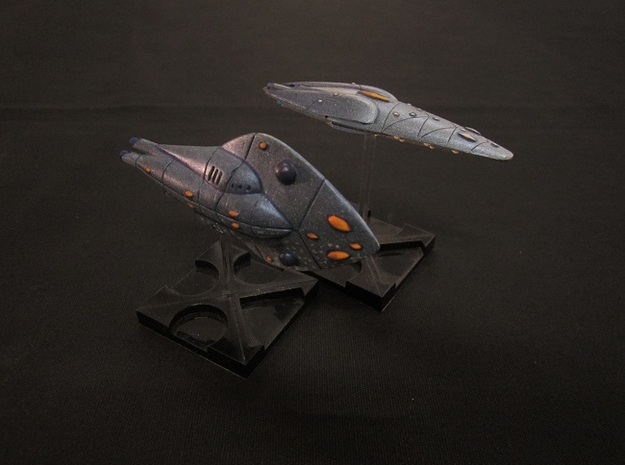 Aquatic Destroyer 3d printed with other model for scale