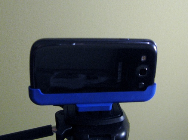 Samsung Galaxy S3 Tripod Mount in Blue Processed Versatile Plastic