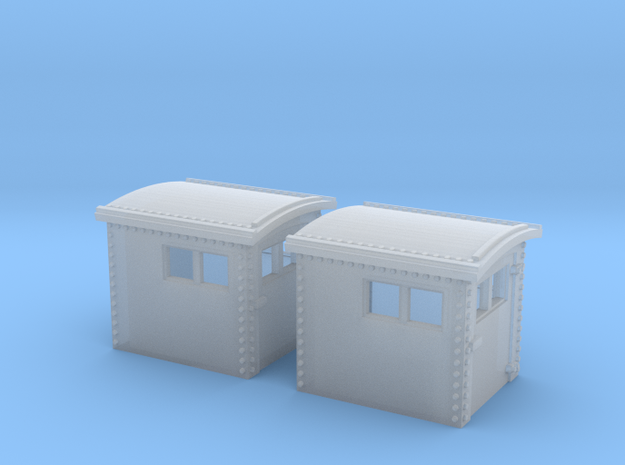 2x N&W Style Dog House N Scale 1:160 in Smooth Fine Detail Plastic