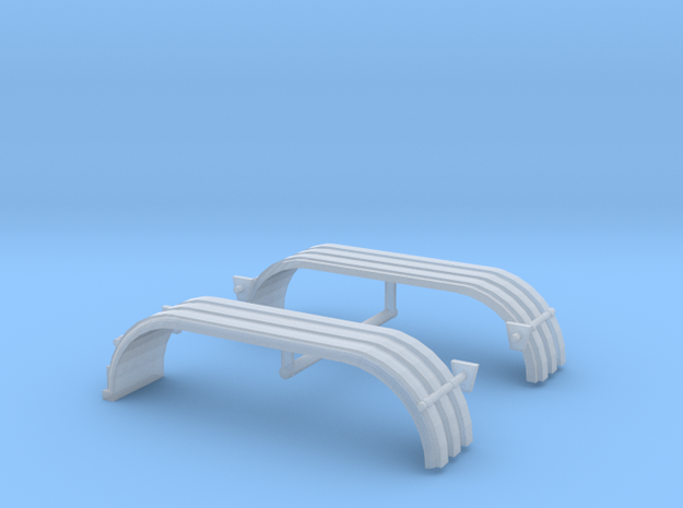 1/64th UFS Tandem Fenders Ribbed w lights in Smooth Fine Detail Plastic