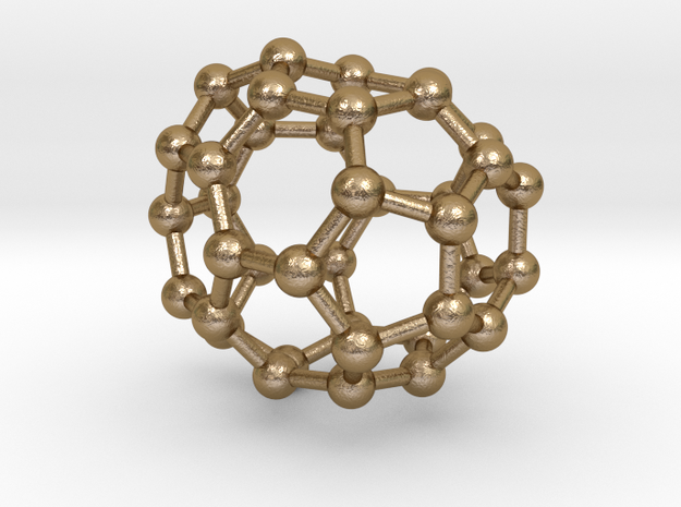 0096 Fullerene c38-15 c2v in Polished Gold Steel