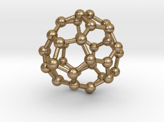 0097 Fullerene c38-16 c3v in Polished Gold Steel