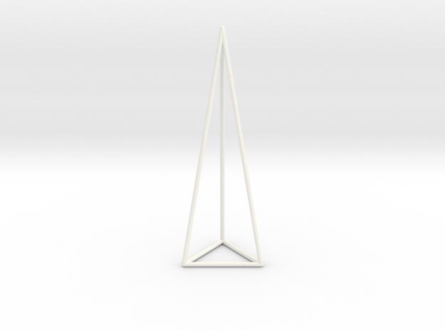 Pyramis Laterata Triangula Vacua in White Processed Versatile Plastic